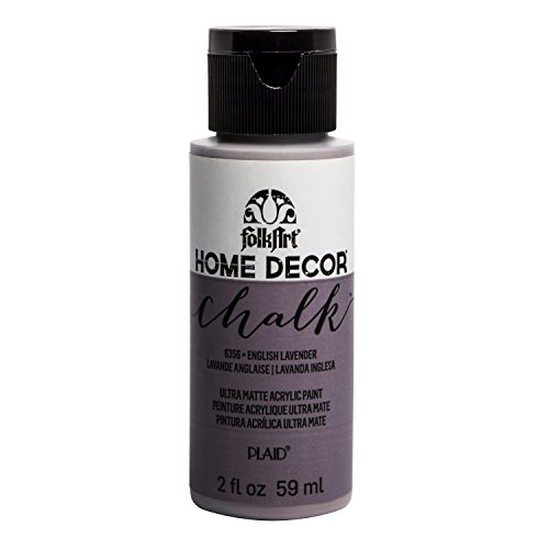 FolkArt Home Décor Chalk Furniture & Craft Paint in Assorted Colors, 2 oz, English Lavender