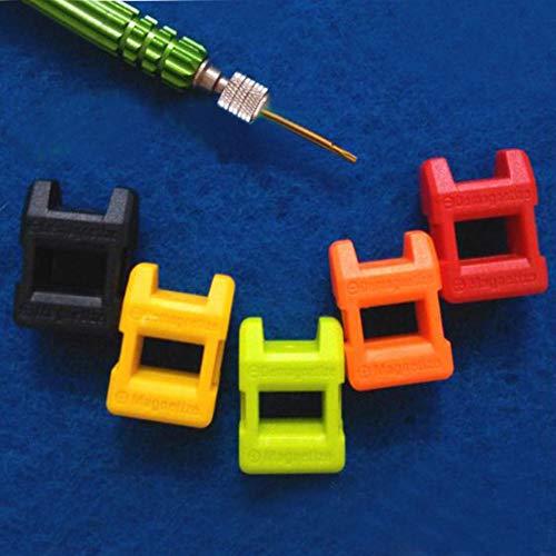 Oulensy 2pcs Mini 2 En 1 Desmagnetizador, Destornillador Herramienta Porcelana Desmagnetizador Imanes Imantador (Color Al Azar)