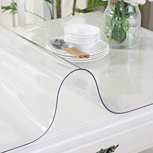 WYJW Restaurant Transparant Tafel Pure Kleur PVC Zacht Glas, Waterdicht, Anti-scald, Crystal Plate Tafelkleed Kunststof (Kleur: 1.0mm dik, Afmetingen: 80 * 135cm)