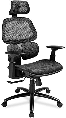 COMHOMA デスクチェア オフィスチェア メッシュ 椅子 疲れにくい パソコンチェア 可動式アームレスト 事務用椅子 通気性 昇降機能付き ロッキング機能; セール価格: ¥15,130