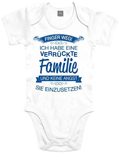 Shirtoo Supersüßer Baby Body Strampler Finger Weg! Ich Habe eine verrückte Familie für Jungen und Mädchen als Geschenk zur Geburt/Erstausstattung