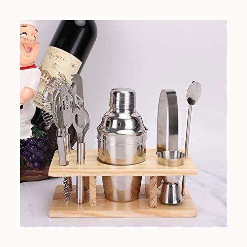 GUOQING Kit Barra de Acero Inoxidable 8pcs Filtrar Camarero Cerveza Mezcladores Mini Kit de Herramientas de la Barra Barman Shaker Set Atrezzo cóctel Coctelera para Cocteles (Color : Blue)