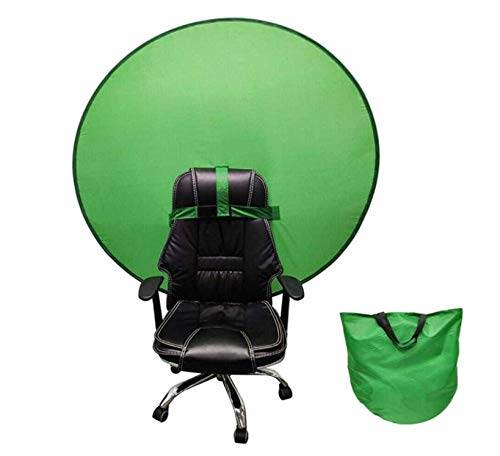 Photography Backdrop - 2 in 1 Collapsible Reversible Background Panel Green Blue Backdrop Screen Portable 4.65ft, for Photo Video Studio Green Screen Backdrop Double Sided Pop Up Green