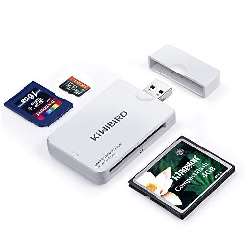 USB 3.0 interfaz de alta velocidad. Ideal para la transferencia de imágenes de alta resolución y grabaciones de video. Compacto y fácil de transportar. Compatible con USB 2.0. Tres ranuras de memoria (CF/SD/Micro SD) – sin necesidad de adaptadores de...