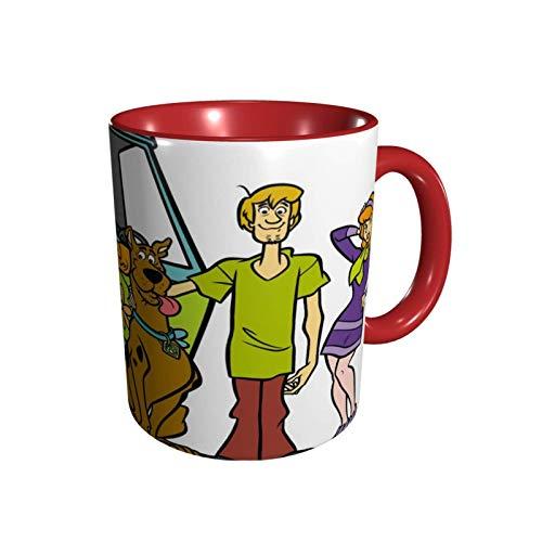 IUBBKI Anime ScoobyDoo Mug Taza de café Tazas personalizadas, tazas divertidas, taza de té, taza de café de cerámica de 11 oz, regalo para niños, taza mágica para