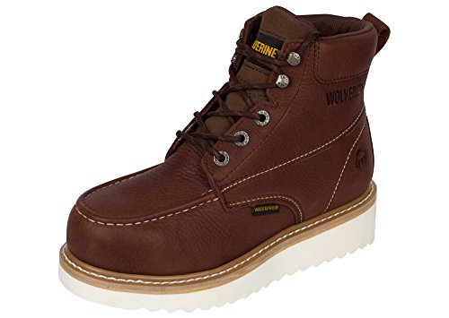 Wolverine Men's Moc-Toe 6' Waterproof Steel Toe Work Boot