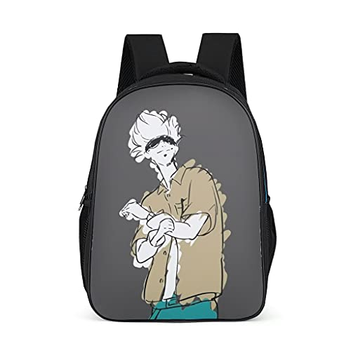 Backpack Jujutsu Kaisen Sukuna Pattern Bookbag Lightweight Daypack School Bag for Adult Child bright gray onesize