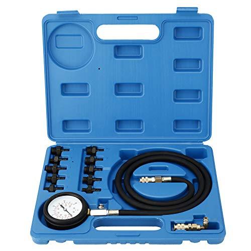 FreeTec Öldruckprüfer Öldrucktester Set Öl-Meßgerät Öldruckmesser Werkzeug für VW Opel Ford BMW FIAT