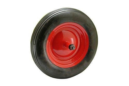 Max-power 57829Rueda Neumática para carretilla, rojo y negro