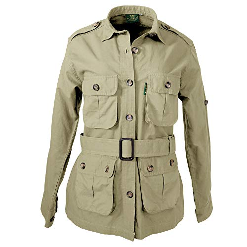 Tag Safari Jacket for Women, Lightweight, Multi Pockets, Perfect for Explorers,Photographers and Journalists