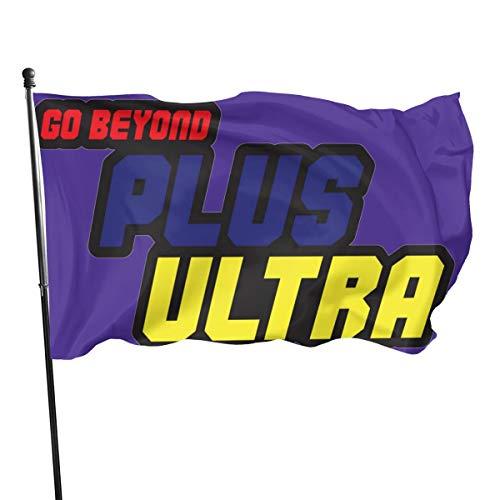 N/ Go-Beyond-Plus-Ultra Fahne, Polyester, 3 x 5 cm, Polyester, Schwarz, Einheitsgröße