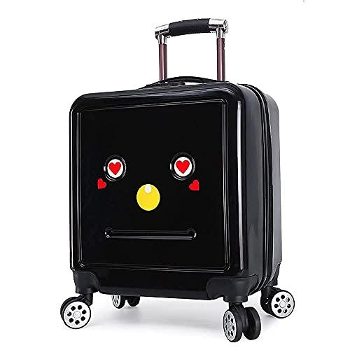 QIXIAOCYB Maleta infantil para equipaje universal con contraseña, color verde, 18 pulgadas (color: negro, tamaño: 18 pulgadas)
