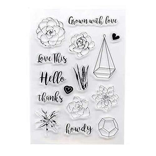 Diy Klar Seal Klar Stempel Silikon Scrapbook Embossing Album-dekor-papierkarten Handgemachte Kunst-handwerk