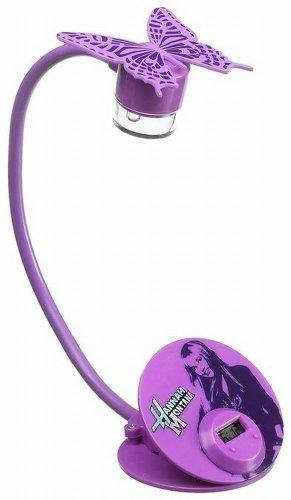 Disney Hannah Montana Flexible Neck Book Light with Clock Flex Lamp Battery Op