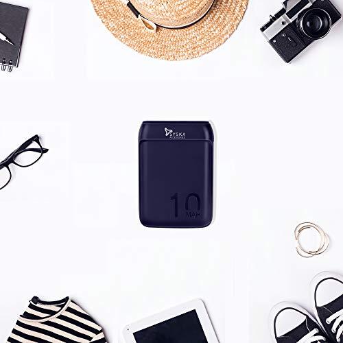 SYSKA P1016B Power Pocket 100 10000mAH Lithium Polymer (Blue) with Rs 50 Amazon Pay cashback