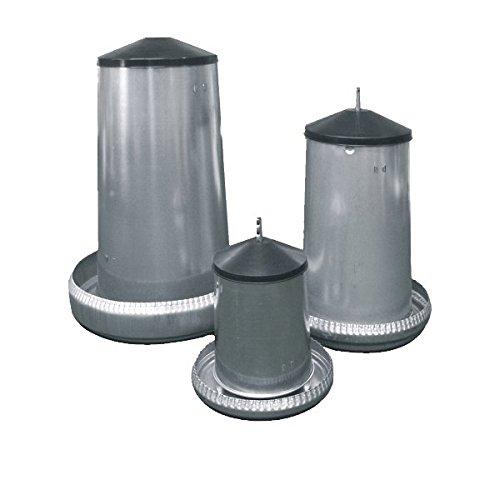 FUTTERAUTOMAT für Geflügel aus verzinktem Metall *stehend oder hängend verwendbar* (20 kg)