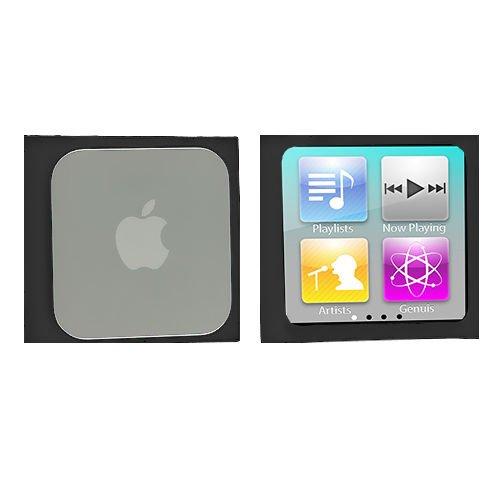 Black Silicone Rubber Gel Soft Skin Case Cover for Apple iPod Nano 6th Gen 6 6G
