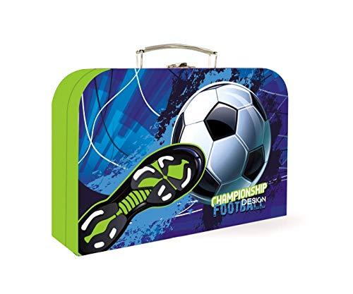 Fussball Ball Football Fußball Spielkoffer Kinder Koffer Spielzeugkoffer Bastelkoffer mit Sticker-von-Kids4shop