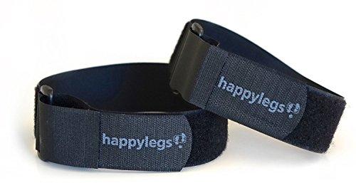 Happylegs Correas Sujeta-Pies - Cinta para Máquina de Andar Sentado con Sistema de Sujección de Velcro para Personas con Poca Fuerza en Piernas. Proporciona Buena Fijación a los Pedales.