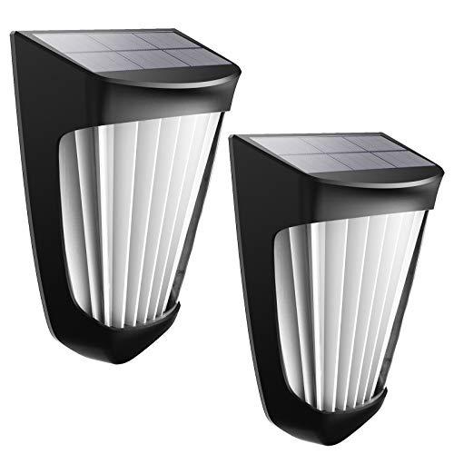 Luz solar decorativa cálida, luces solares para exteriores mejoradas, inalámbricas IP54...