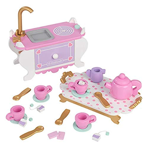 KidKraft Let's Pretend: Tea Time, 22-Piece Play Food Accessories for Play Kitchens
