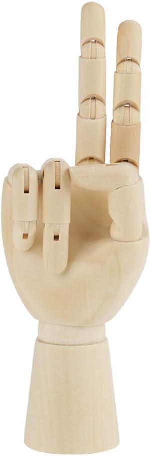 10 inch Left Hand Oumefar Holz Hand Modell Holz Schaufensterpuppe K/ünstler Modell artikulierte Anzeige f/ür Skulptur Zeichnung