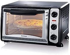 SEVERIN 2034 tostador, Incl. Rejilla Grill y Bandeja de Horno, 1.500 W, 20 L, 1500 W, Negro