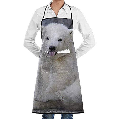 Niet van toepassing Bib Schort Baby Polar Bears Mannen Bakken Bbq Grill Schort Met Zakken Chef Keuken Vrouwen Restaurant Coffee Shop Studio