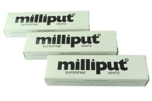 Proops 3x Milliput Superfine weiß, ideal für Modelling- und Modellage (x1018b) Adidas