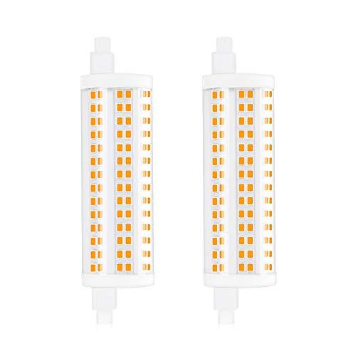 Bonlux R7S LED 118mm Dimmbar 20W 2200lm Kaltweiß 6000K J118 Linear Licht AC 220V Entspricht 200W Halogenlampe 360 Grad (2-Stück Nicht Dimmbar)