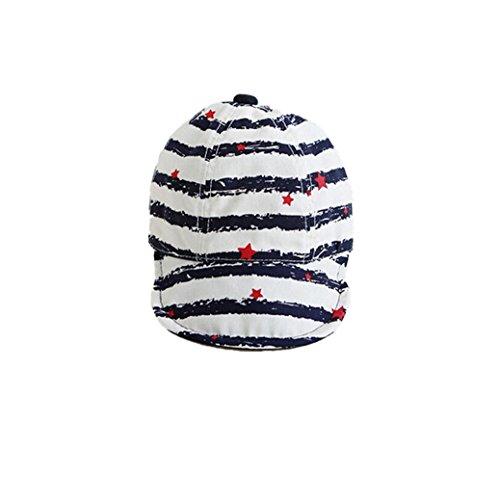 Fami Cute Baby Infant étoile Turn Baseball Beret Cap (Bleu)