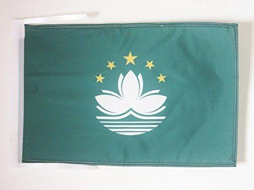 AZ FLAG Flagge Macau 45x30cm mit Kordel - CHINESISCHE Fahne 30 x 45 cm - flaggen Top Qualität