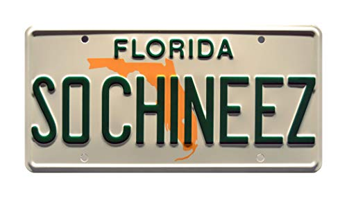 Celebrity Machines Fresh Off the Boat | SO CHINEEZ | Metal Stamped License Plate