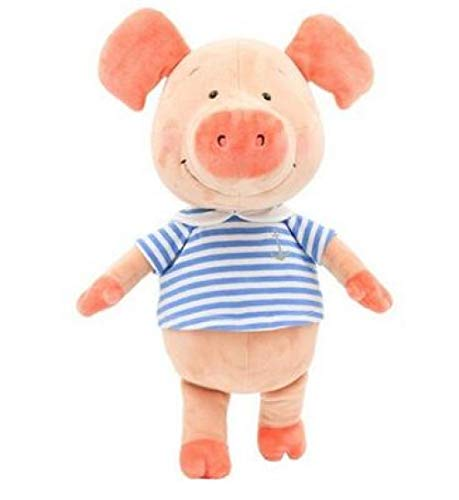 AYLAODI 30Cm Nice Plush Toy Stuffed Wibbly Pig Hoodie Scarf Piggy Piglets Lover Couples Christmas Birthday Gift 1Pc