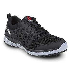 Reebok Work Sublite Cushion Work, Black/Gray, Women's, Slip Resistant Athletic Work Shoe (7.5 M)