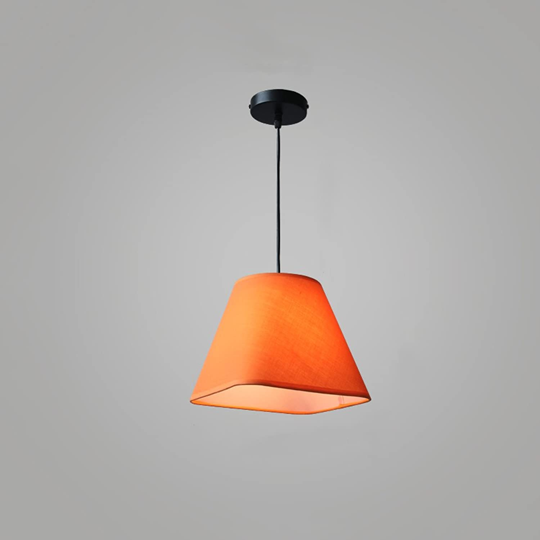 Pointhx Nordic Einfachheit Rechteck Stoff Decke Pendelleuchte Kronleuchter Moderne Einstellbare Einzelkopf E27 Kunst Hngelampe für Esszimmer Schlafzimmer Restaurant Innenbeleuchtung (Farbe   Orange)