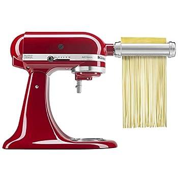 KitchenAid KSMPRA Pasta Roller & Cutter Attachment Set Pack of 1 Silver