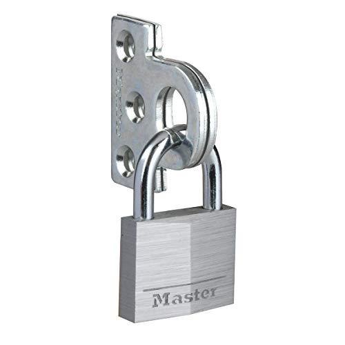 Master Lock 914060EURD Set aus flachen Stahlüberwürfen und Vorhängeschloss mit Schlüssel