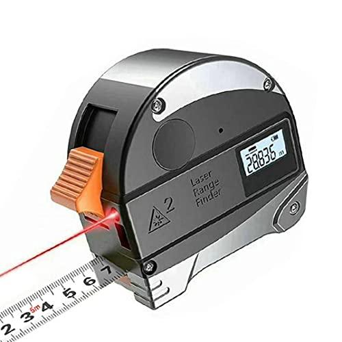 LAANCOO Medidor de Distancia Digital 40M Cinta métrica 5M Distancia Medida Range Finder con Pantalla LCD 2 en 1 Portable Durable Gris