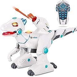 3. wodtoizi Remote Control Velociraptor Dinosaur Robot Toy