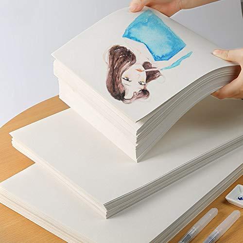 Papel de acuarela Rubens, 50% algodón, 300 g/m2, 10 hojas pintadas ...