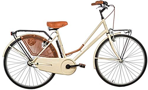 Bici Misura 26 Olanda Senza FILETTI Passeggio Olandese Art. OL26SF (Panna)
