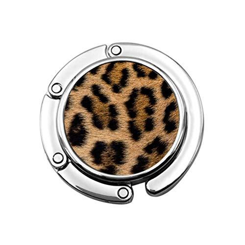 Colgador de Mesa Plegable con Estampado de Leopardo de Animales Coloridos, Colgador de Bolso de Oficina, Colgador de Almacenamiento de sección Plegable, Bolsas para Mujeres