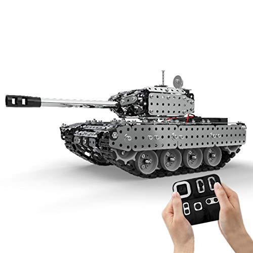 12che Panzer Spielzeug Set, 952 Stücke 1:16 Metall Panzer Ferngesteuert, Panzer Modellbausatz für Kinder und Erwachsene