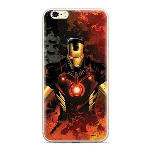 Finoo – Funda para iPhone 7 Plus/8 Plus – Marvel Funda para teléfono móvil con diseño y protección óptima, Funda de Silicona TPU – Iron Man V1