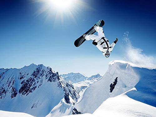 TTXXC 0496B Shaun White Snowboarding Jump Extreme Sport-Wall Sticker Póster Decoration,12x18 Inch(30X45 cm)