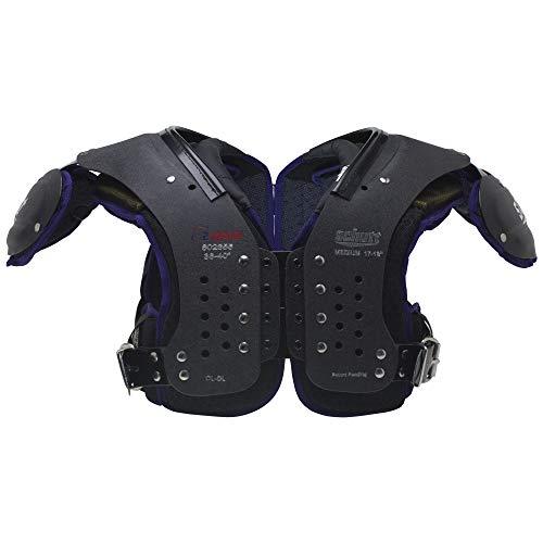 Schutt Sports Varsity O2 Maxx OL/DL Shoulder Pad, Black/Purple, Large