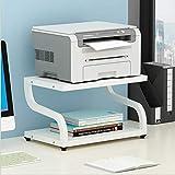 PUNCIA Stampante multifunzione laser per ufficio copiatrice scanner supporto per scanner con cuscinetti antiscivolo per organizer da tavolo,vassoio a due livelli per forno a microonde in vaso(bianca)