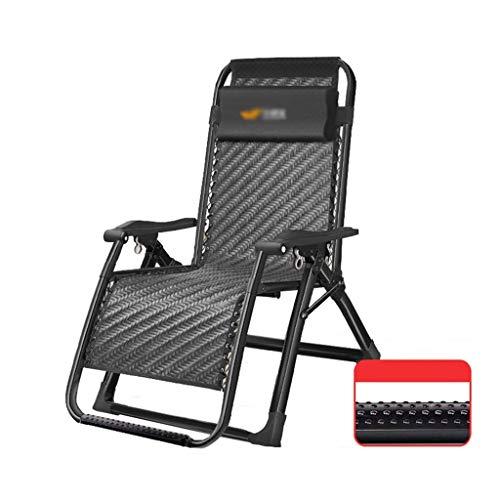 WSDSX Sillón reclinable Plegable Zero Gravity Sillón reclinable Plegable, Almuerzo de Verano Sillón de Camping con Masaje de pies para jardín al Aire Libre, césped, Piscina, Playa S