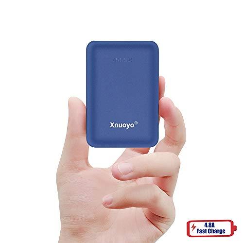 Xnuoyo Mini Portátil Power Banks 10000mAh Batería Externa con el Tipo-C Entrada Power Bank Compatible con Teléfonos Inteligentes (Azul)